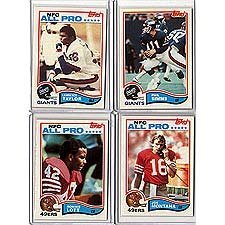 1982 Topps Football Complete Mint Hand Collated 528 Card Set, Featuring Rookie Cards of Lawrence Taylor, Ronnie Lott, Anthony Munoz and Others. Loaded with Stars and Hall of Famers Including Joe Montana's 2nd Year Card, Walter Payton, Terry Bradshaw, Art
