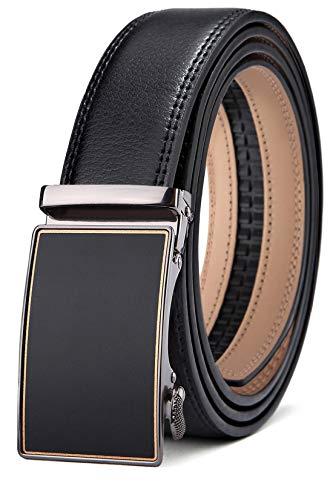 Lock Logo Large - Men's Belt,Bulliant Slide Ratchet Belt for Men with Genuine Leather 1 3/8,Trim to Fit