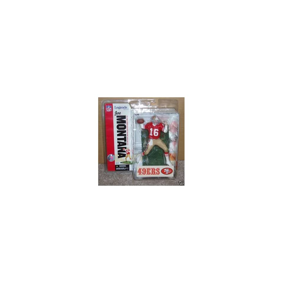 Joe Montana #16 San Francisco 49ers Forty Niners Red Jersey McFarlane NFL Legends Series 2