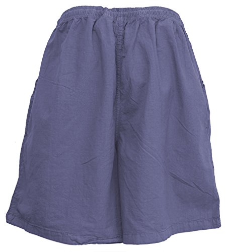 Salem Straits Women's Plus Size 100% Cotton Sheeting Cargo Shorts (Periwinkle, 2X) by Salem Straits (Image #3)