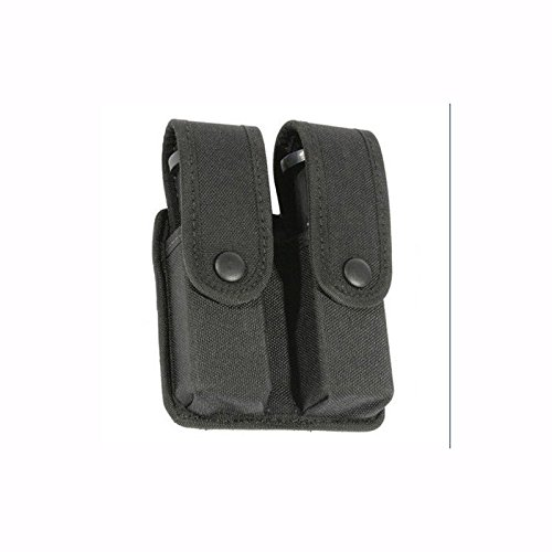 (BLACKHAWK! Traditional Black CORDURA Divided Double Mag Case - Single Row)