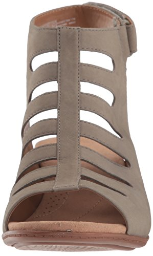 Clarks Women's Valarie Shelly Heeled Sandal Sage Nubuck 8rDCV3dj