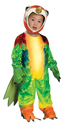 [UHC Silly Safari Tropical Bird Parrot Jumpsuit Toddler Child Halloween Costume, 2T-4T] (Deluxe Parrot Costumes)