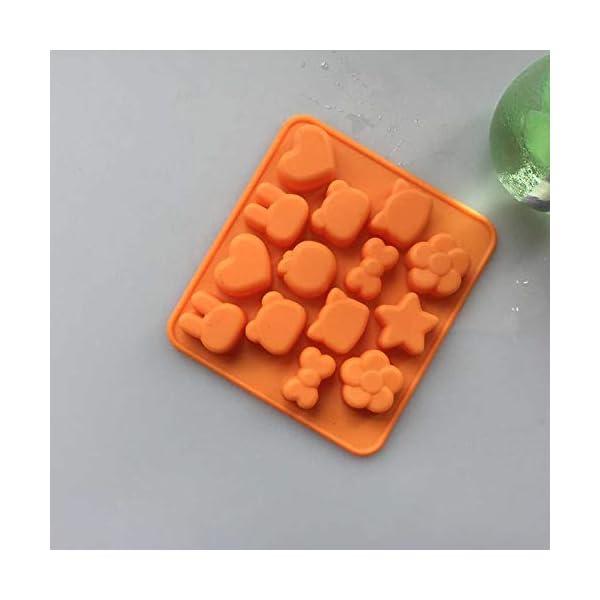 Hosaire - Stampo in silicone per torte, biscotti, gelati, pasticceria, cioccolato, fondente, 3D, a forma di coniglio e… 4 spesavip
