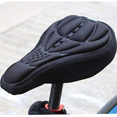 VOANZO 2 PCS Mountain Bike Saddle Cover airy Pillows 3D Silicone Comfortable Seat Cover Cushion Sets Bicycle Cycle Accessories (Black)
