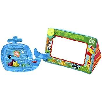 Amazon.com : Bright Starts Sit & See Safari Floor Mirror with Water ...