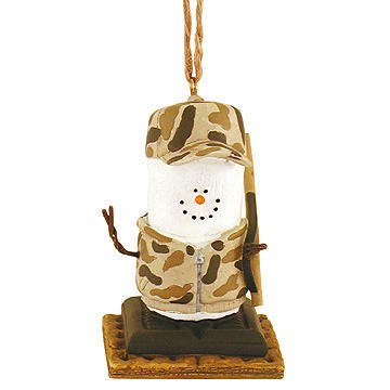 S'mores Camo Hunter Resin Hanging Christmas Ornament -