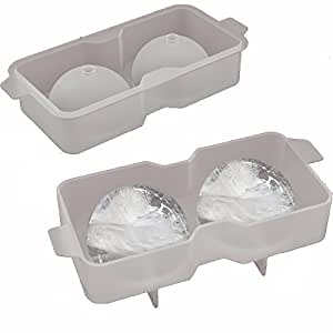 Ice Ball Mold - Silicone Ice Ball Maker - Cocktail Recipes Ebook Included