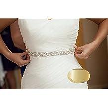 QueenDream Bridal Pearl Sash Wedding Belt Bridal Belt Sash Belt Crystal Rhinestone Belt Wedding Dress Sash ridesmaid Dress Sash - Ivory
