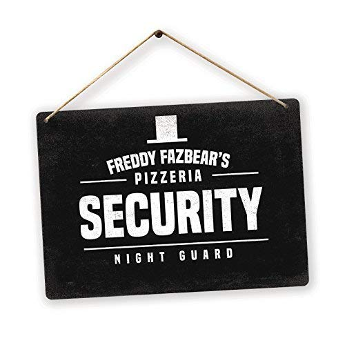 First Rober FNAF Security Twine Metal Wall Sign Plaque Art Inspirational - 8x12 inch