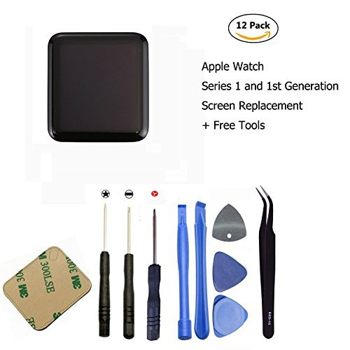 (Ogodeal Screen Replacement for Apple Watch Series 1 A1803 and (1st generation) A1554 LCD & Digitizer Touch Screen Assembly 42 MM Sport)