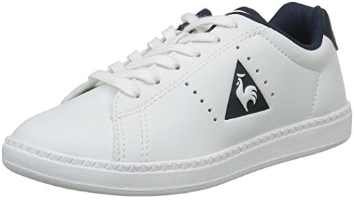 Le Coq Sportif Courtone Gs S, Zapatillas Unisex Niños Blanco (Optical White/DressOptical White/Dress)