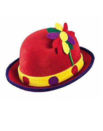 (Forum Novelties Red Clown Derby Hat w/)