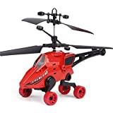 Pausseo New Mini RC Drone Toys,Infrared Induction Remote Control Helicopter Toy Gyro Helicopter Kids Adults (Red)