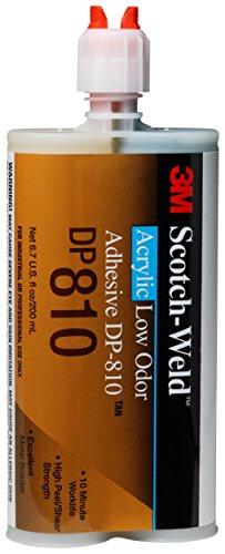(3M Scotch-Weld 31311 Tan Low Odor Acrylic Adhesive (DP810), 200 mL)