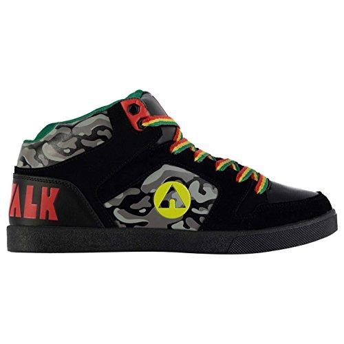 Airwalk Roxbury (Mid Skate Schuhe Herren BLK/RD/gelb/grn Turnschuhe Sneakers Schuhe