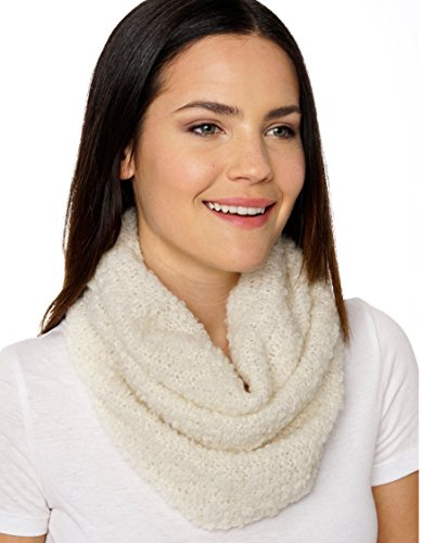 Alpaca Boucle Scarf - Invisible World Women's Pure 100% Baby Alpaca Chunky Scarf Neck Gaiter White