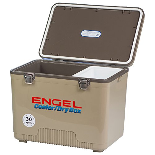 ENGEL COOLERS 30 QUART COOLER/DRY BOX - TAN