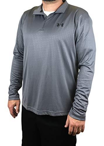 Under Armour Men's Velocity Embossed 1/4 Zip Running Track Jacket Shirt (Large)