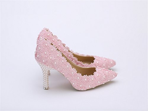 Mujer 7cm Heel Cuña Pink Con Sandalias Miyoopark tnqxgpw