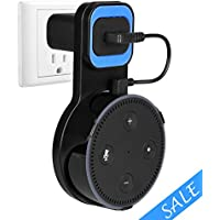 Wall Mount Stand Holder for Echo Dot 2nd Generation, Stable Echo Dot Mount Holder Unified Design without Messy Wires or Drilling in Bedroom, Bathroom, Kitchen and Office(Black)