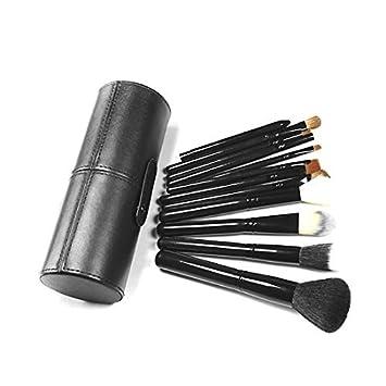 eDealMax 12pzas Cara Base de Maquillaje Sombra de ojos Delineador de cejas cosmética de maquillaje cepillos