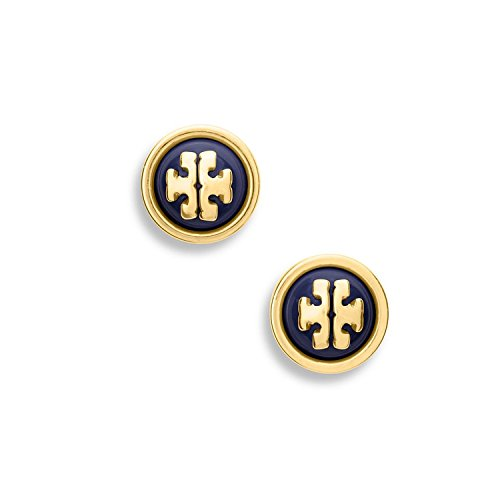 Tory Burch Melodie Pearl Logo Stud Fashion Earrings Tb Logo Authentic - Authentic Burch Tory