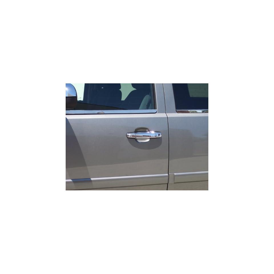 Cadillac Escalade   Chevrolet Avalanche / Silverado / Suburban / Tahoe   GMC Sierra / Yukon / Yukon XL 2007   2011 Chromed Stainless Steel Door Handle Insert Accents