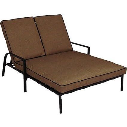 Amazoncom Braddock Heights Double Chaise Lounge Seats  Cell - Double chaise lounge outdoor furniture