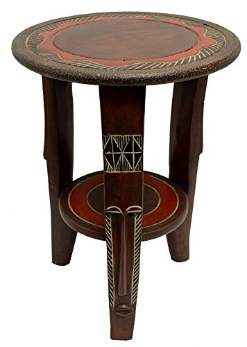 African Round Fanti Accent Table (20