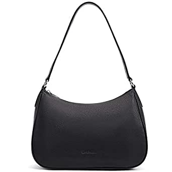 BOSTANTEN Women Handbags Genuine Soft Leather Hobo Bag Designer Shoulder Purses and Handbags Black