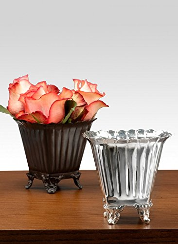 (Serene Spaces Living Silver and Bronze Petite Planter Urns (bronze))