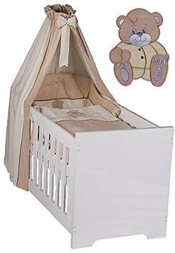 7-tlg. Babybettset Memi Bear in beige inkl. Krabbeldecke + Lätzchen -NEU-