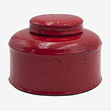Better /& Best 2662903 Bote bajo ancho fresa craquelado grande de cer/ámica fresa color