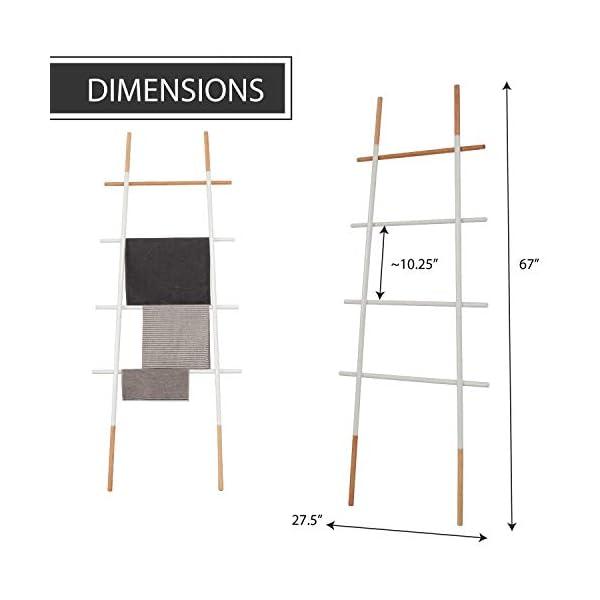 Decorative Blanket Ladder for Living Room Bedroom Bathroom, White