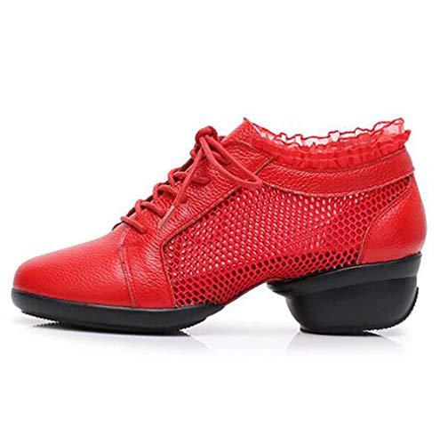 【 新品 】 軽量モダンダンスシューズレディースレザーメッシュアウトドアフィットネスレースウォーキングランニングスニーカーダンスウェアすべてのサイズ B07GT2HHPD B07GT2HHPD 41|Red 41|Red Red Red 41, SECRET BASE:54352414 --- shourya.co.in
