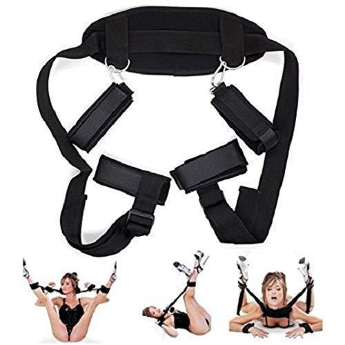 Bed Rêštráints Kit for Couples B`D`S-M Game Play Bōňdägéromance Rêštráinting Straps Set Cuffs Wrist Ankle Women