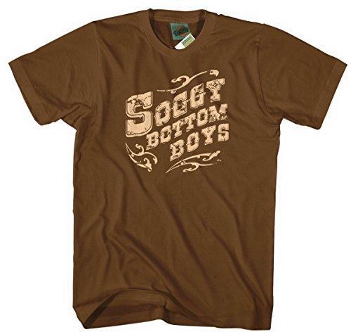 O Brother Where Art Thou Inspired Soggy Bottom Boys, Men's T-Shirt, X Large, Chestnut