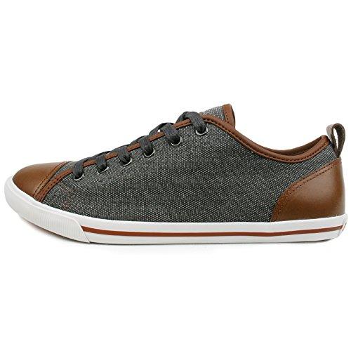 Burnetie Mens Ox Vintage Sneaker Light Carbon Black