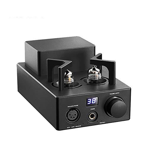 HiFi High Performance Balanced Classical 12Au7 Tube Stereo Audio Headphone Amplifier with XLR AUX,aa