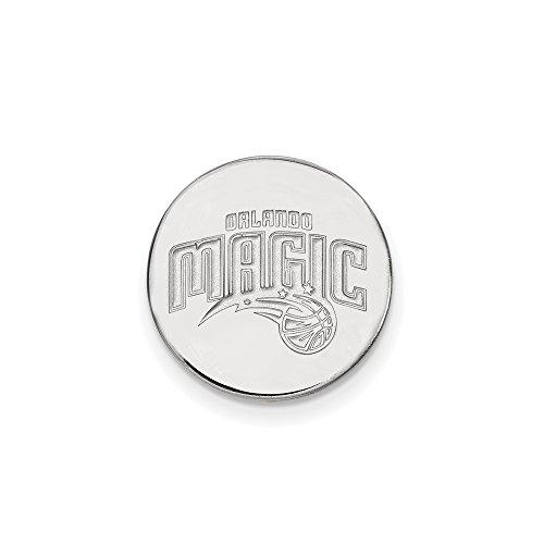 NBA Orlando Magic Lapel Pin in 14K White Gold by LogoArt