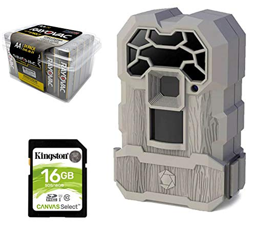 Hunting Trail Camera Bundle 3 Items | Stealthcam QS12 + Rayovac AA Battery 24 PK + 32 GB SD Card | 8.0 MP Pictures | Video Recording| Low Glow 12 ()