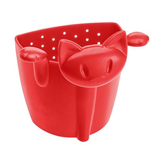 koziol MIMMI Tea Strainer, Filter, Tea Bag, raspberry red