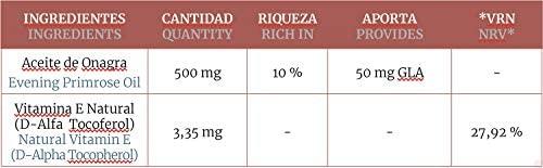 Onagra Con Vitamina E De 500 Miligramos 220 Perlas De Obire