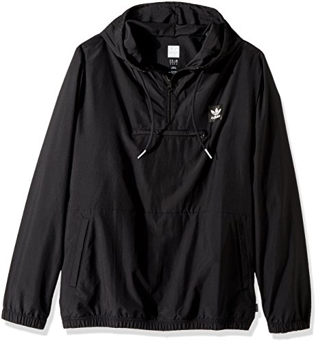 adidas Originals Men's Skateboarding Hip Packable Jacket, Black, XL Adidas Black Storm Jacket