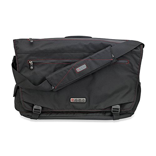 "ECBC Trident Laptop Messenger Bag for 14"" Laptop, TSA-Friendly, Black (B7203-10)"