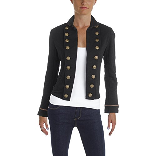 Denim & Supply Ralph Lauren Womens Open Front Military Jacket Black M by Polo Ralph Lauren