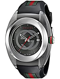 06e5bc19cb75 SYNC XXL Stainless Steel Watch with Black Rubber Bracelet(Model YA137101)
