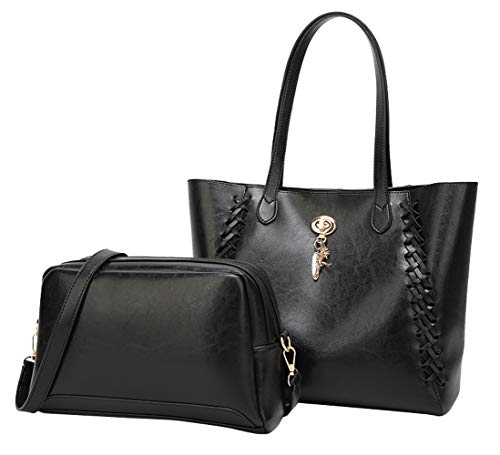 4 Rétro tissée à Femmes Fourre Cuir épaule Tout portés Main Violet Mode Sac noir Sacs en Décoration pour gfxaYqpq