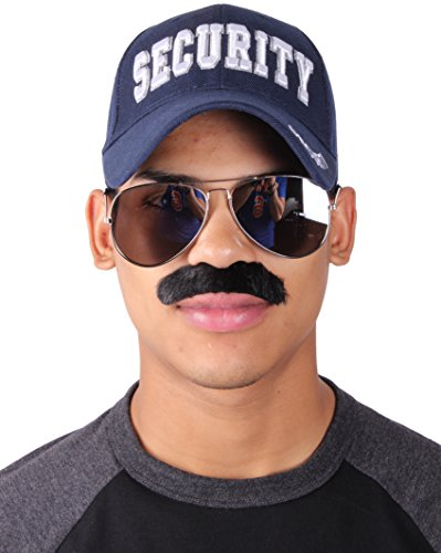 Enimay Halloween Police Officer Costume Hat Sunglasses Mustache - Officers For Sunglasses Police
